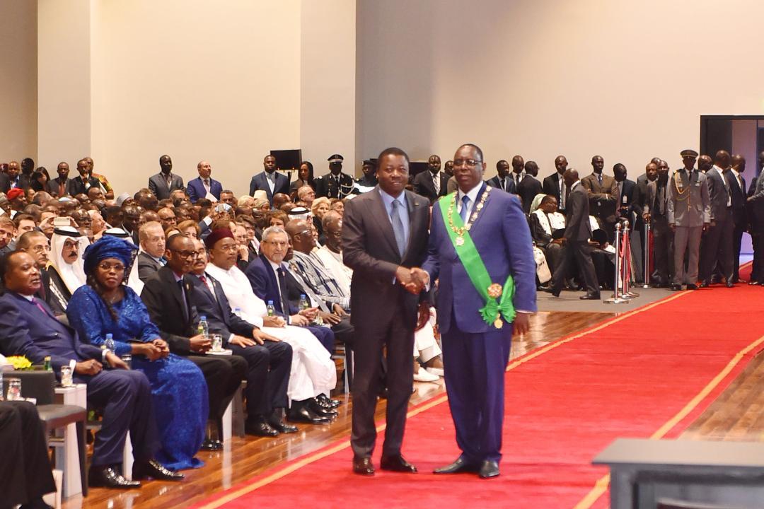 Le chef de lEtat félicite de vive voix son homologue sénégalais