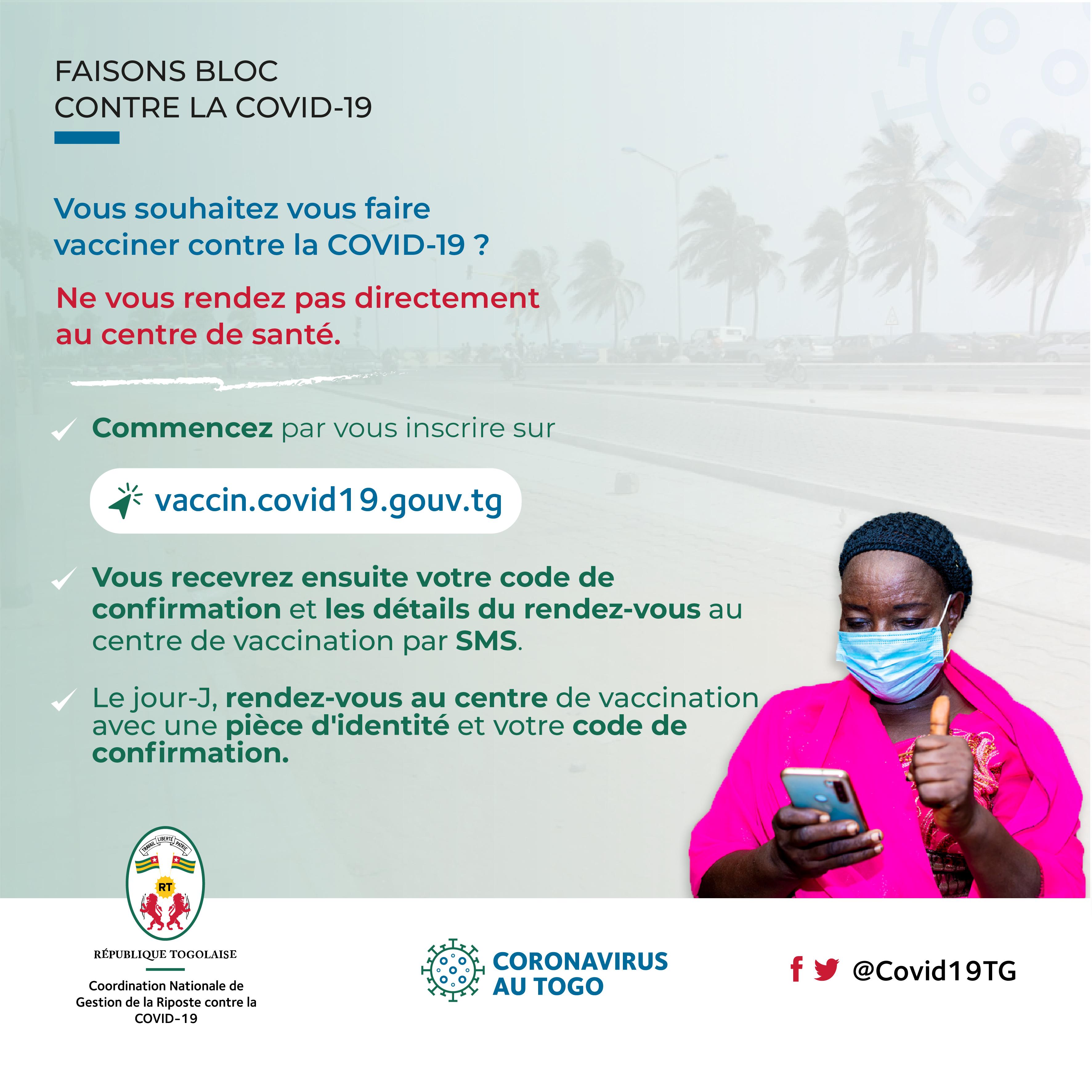 Visuel Inscription vaccination avertissement